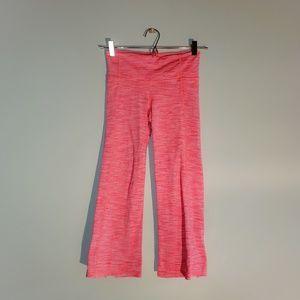 Athleta | Neon Pink Power Up Split Cuff Capri